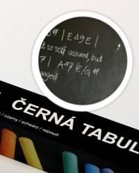 Černá nalepovací tabule 45x150cm