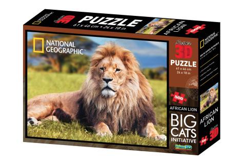 Puzzle Lev 500 dílků 3D