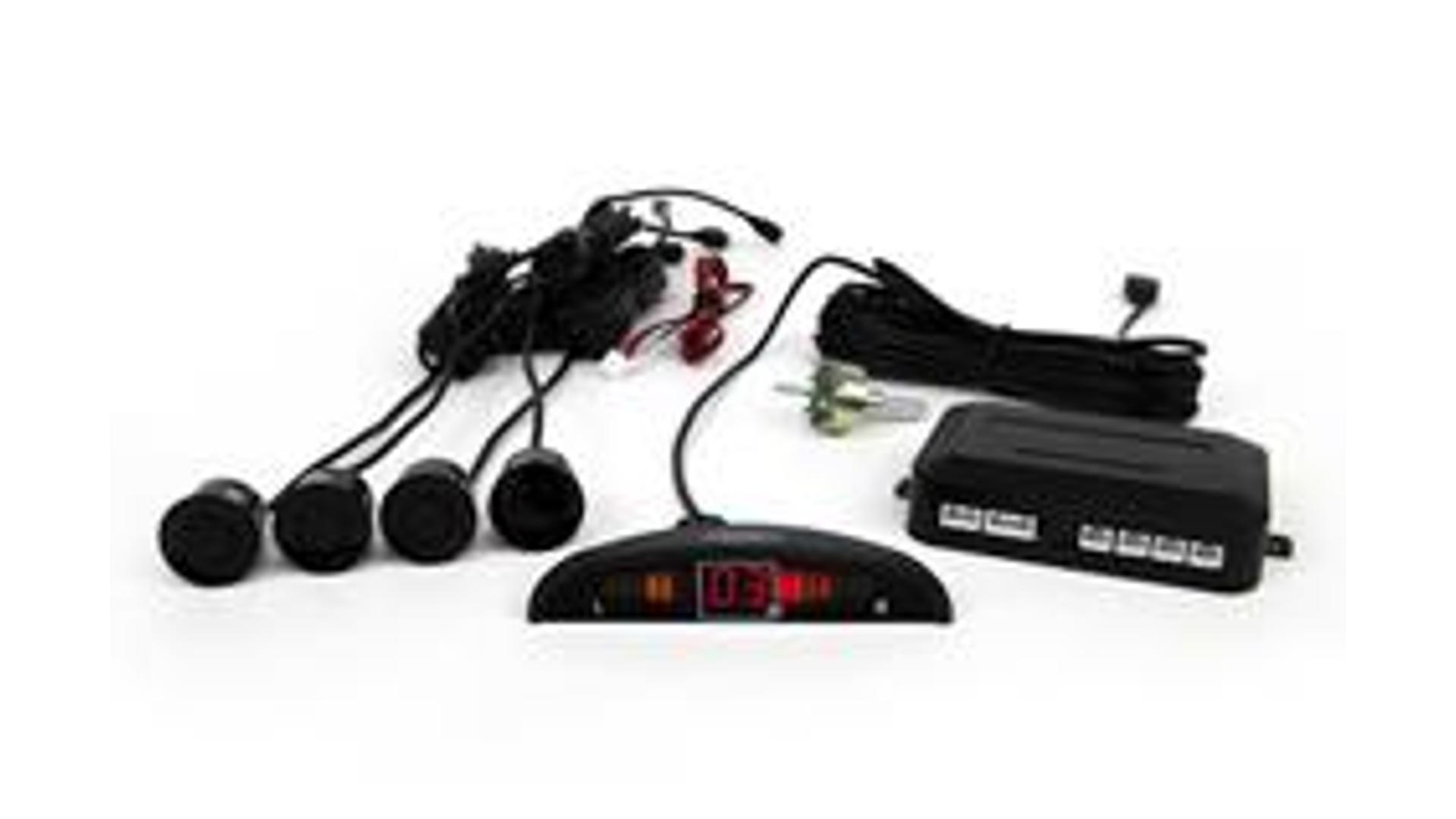 Parkovací asistent s LED monitorem vzdálenosti, 4 senzory