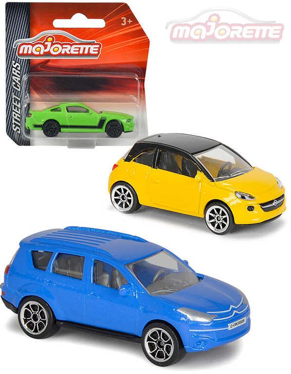 MAJORETTE Auto 7,5cm Street Cars kovové 1:64 volný chod 24 druhů