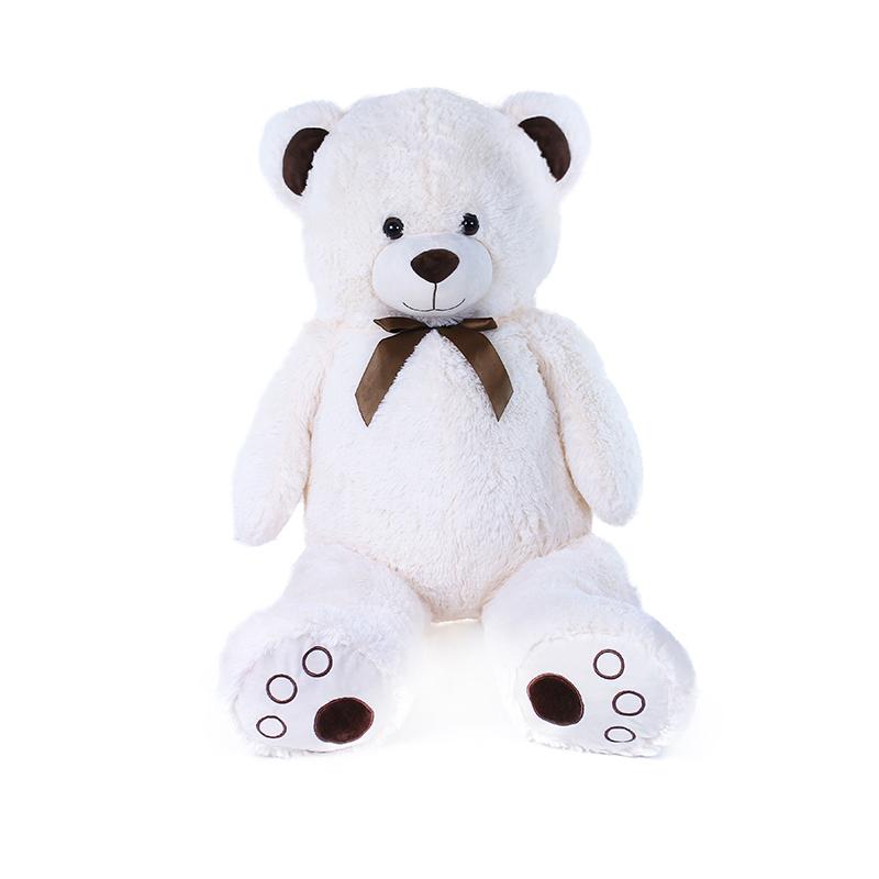 Velký plyšový medvěd Tonda 100 cm krémově bílý s visačkou