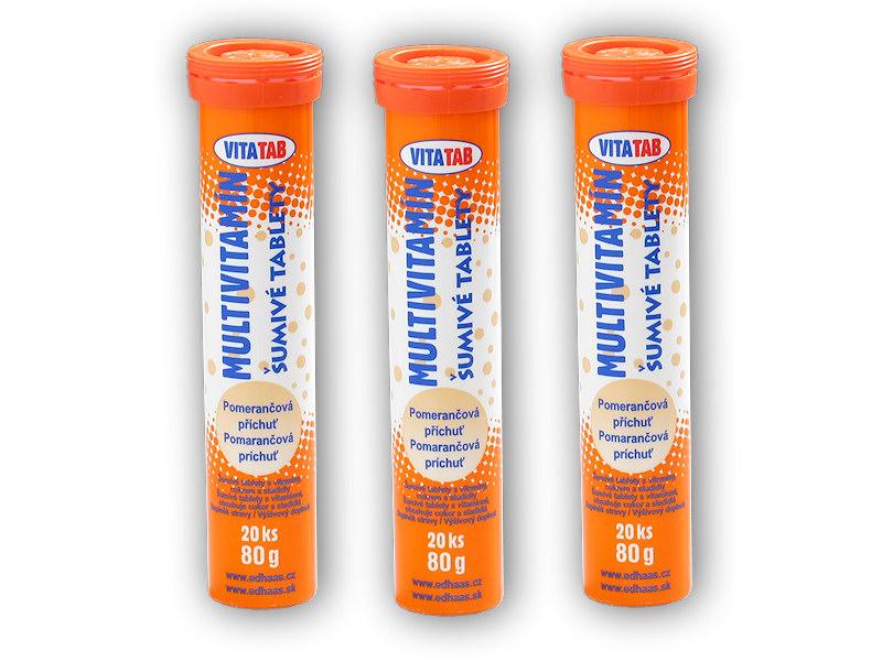 3x Vitatab Multivitamin 20 šumivých tabl