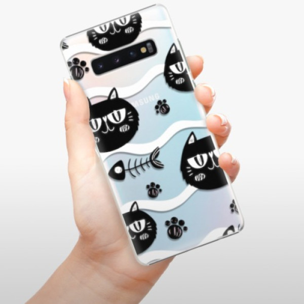 Plastové pouzdro iSaprio - Cat pattern 04 - Samsung Galaxy S10+