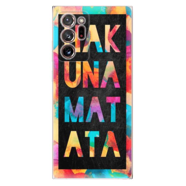 Odolné silikonové pouzdro iSaprio - Hakuna Matata 01 - Samsung Galaxy Note 20 Ultra