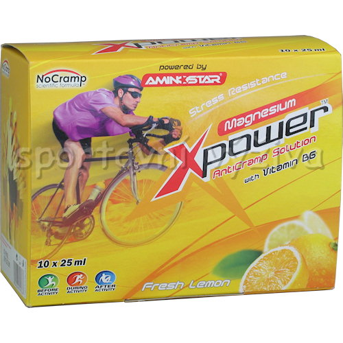 Xpower Magnesium 10 ampulí á 25ml lemon