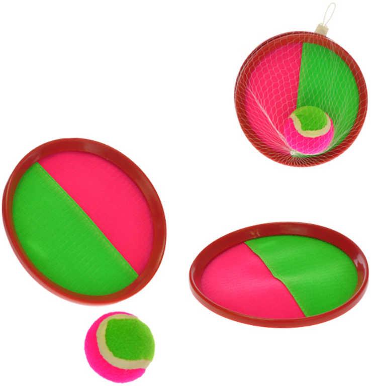 Hra Catch ball 2-Play 19cm set 2 talíře s míčkem v síťce