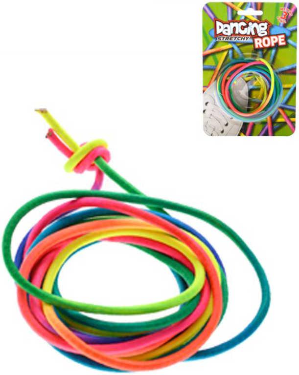 Guma dětská na skákání Dancing Rainbow 300cm barevná na kartě