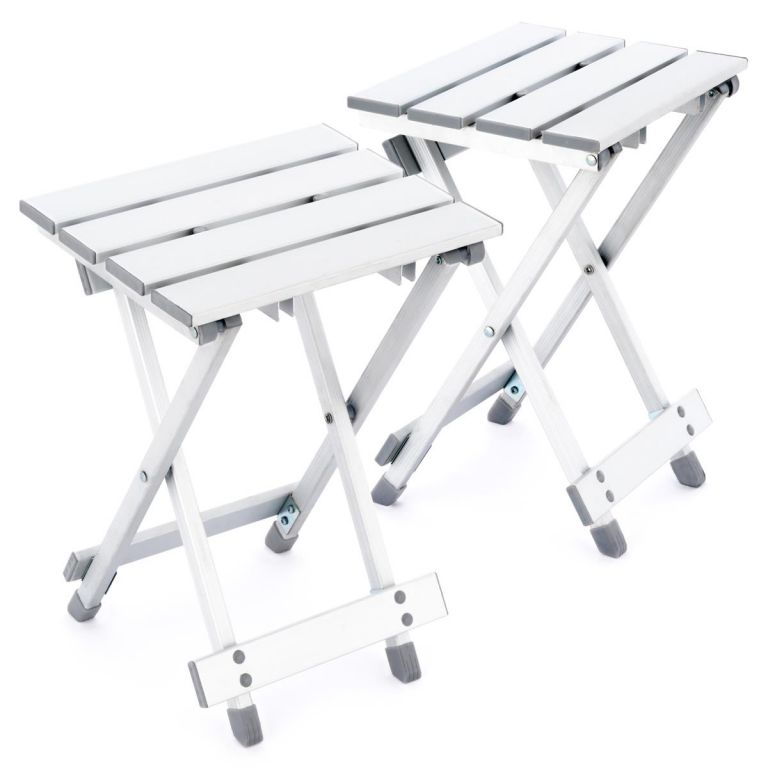 Set 2 ks sklopných stoliček - hliník