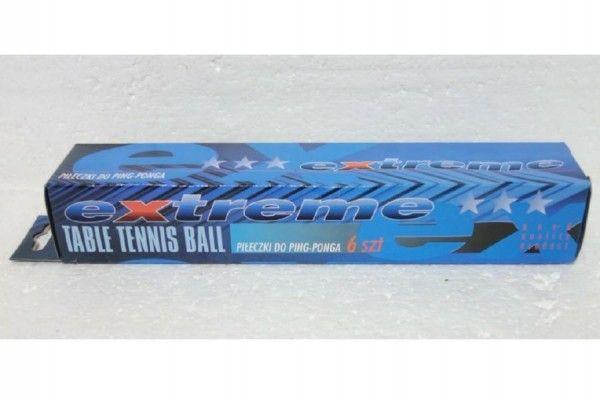 Míčky na stolní tenis/ping pong bílé 6ks v krabičce