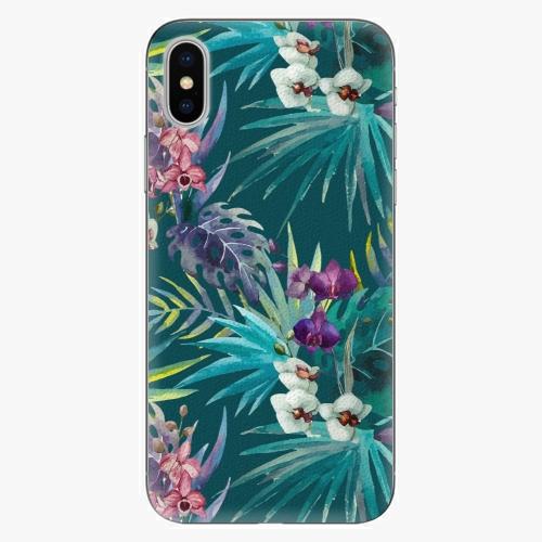 Plastový kryt iSaprio - Tropical Blue 01 - iPhone X