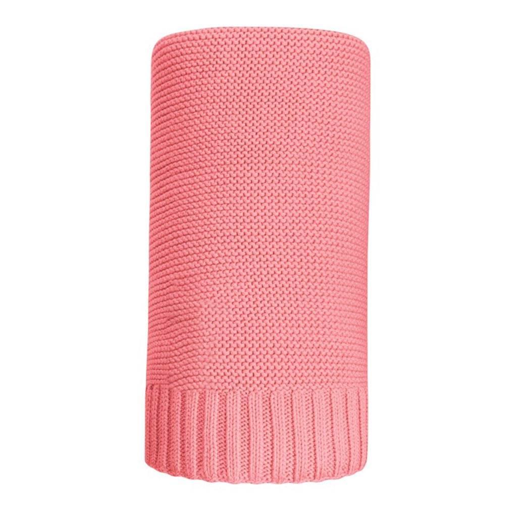 Bambusová pletená deka NEW BABY 100x80 cm - červená