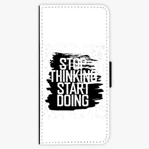 Flipové pouzdro iSaprio - Start Doing - black - Samsung Galaxy S7 Edge