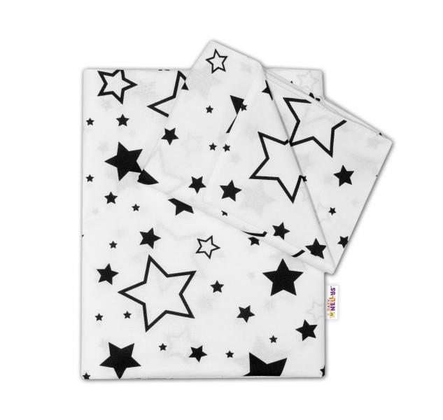 baby-nellys-2-dilne-bavlnene-povleceni-cerne-hvezdy-a-hvezdicky-bily-120x90