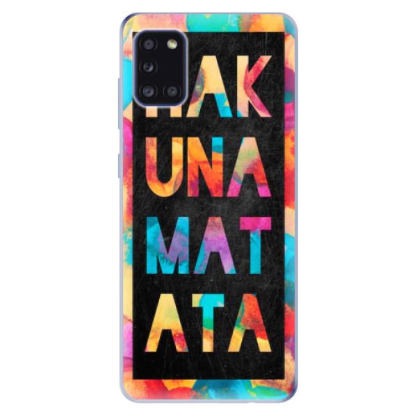 Odolné silikonové pouzdro iSaprio - Hakuna Matata 01 - Samsung Galaxy A31