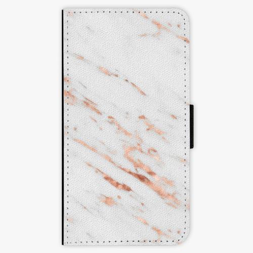 Flipové pouzdro iSaprio - Rose Gold Marble - Huawei Nova