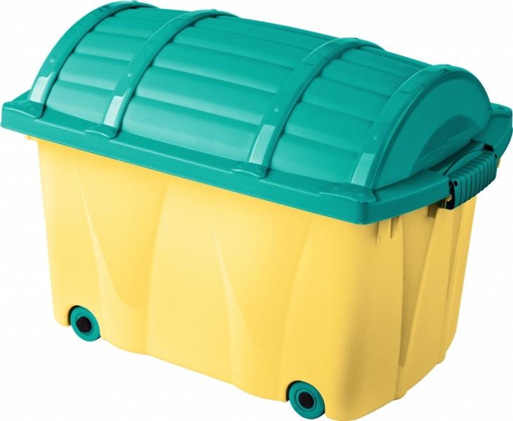 Keeeper Plastový box na kolečkách - 42l - žlutý