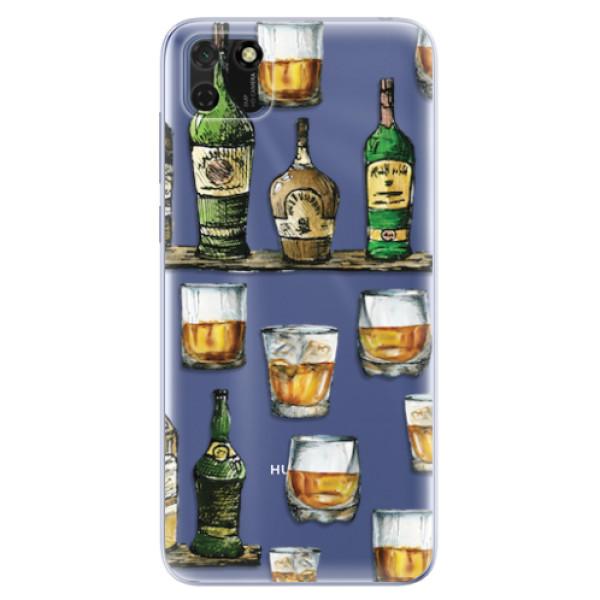 Odolné silikonové pouzdro iSaprio - Whisky pattern - Huawei Y5p