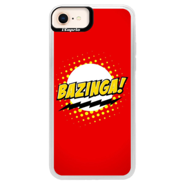 Neonové pouzdro Blue iSaprio - Bazinga 01 - iPhone 8
