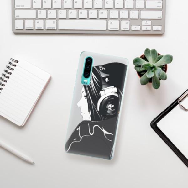 Odolné silikonové pouzdro iSaprio - Headphones - Huawei P30