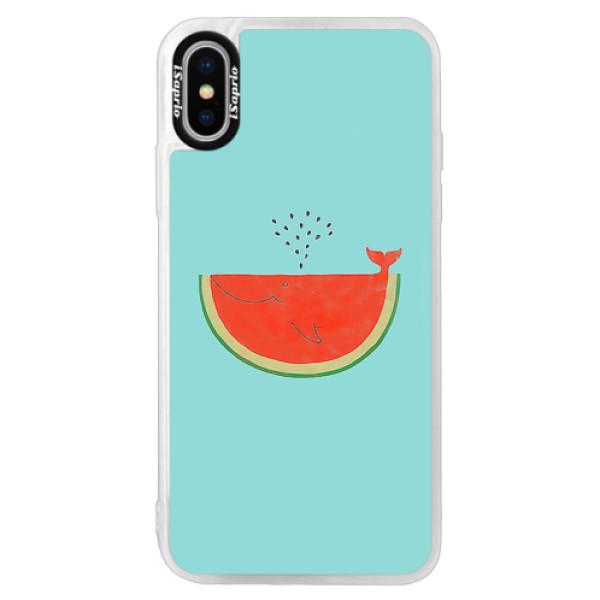 Neonové pouzdro Pink iSaprio - Melon - iPhone XS