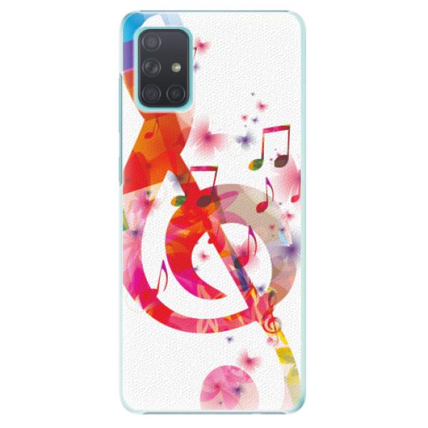 Plastové pouzdro iSaprio - Love Music - Samsung Galaxy A71