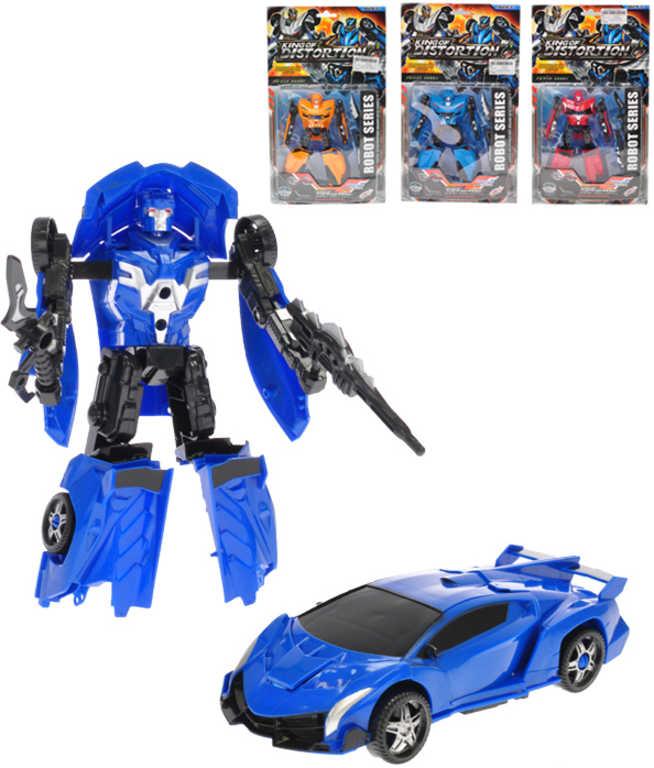 Auto sportovní robot 17cm transrobot volný chod 2v1 plast 4 barvy