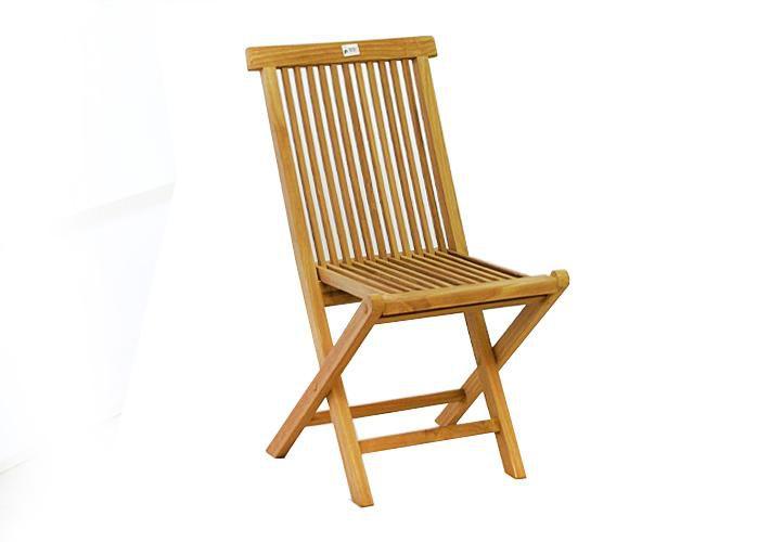 Skládací židle z teakového dřeva
