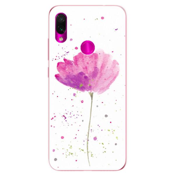 Odolné silikonové pouzdro iSaprio - Poppies - Xiaomi Redmi Note 7