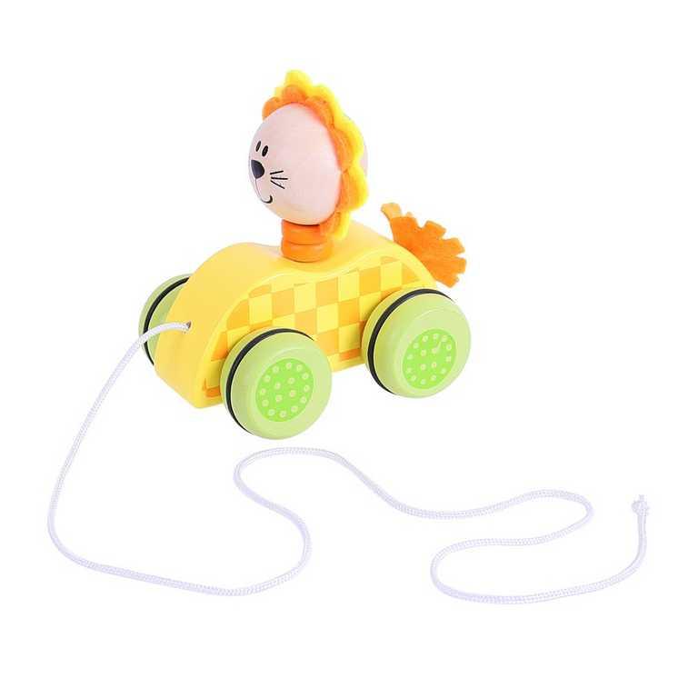Bigjigs Toys Tahací hračka na provázku lvíček