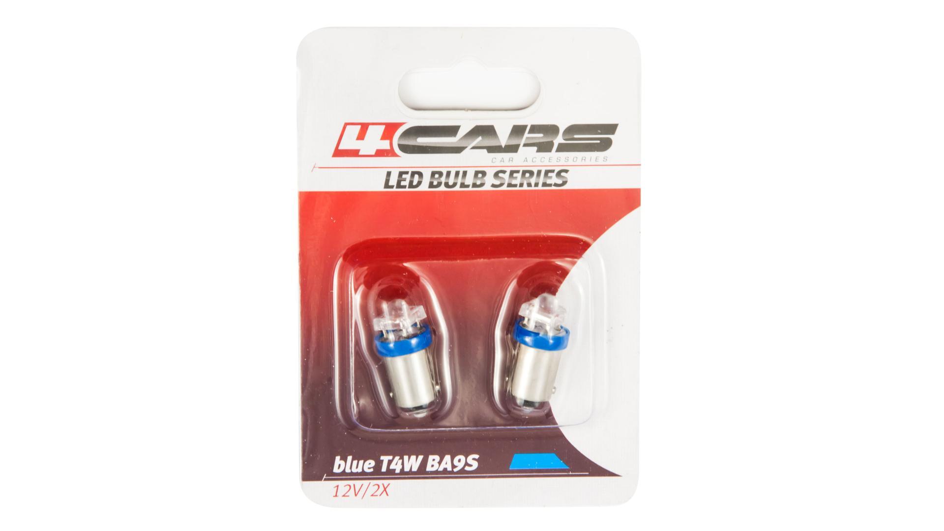 4CARS LED žárovka 1LED 12V BA9S modrá