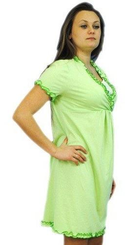 Těhotenská, kojící noční košile s volánkem - sv.