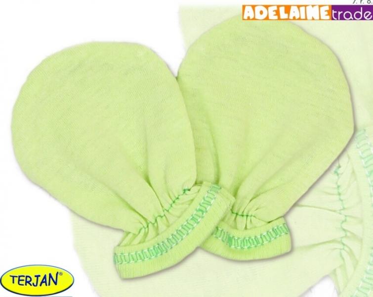 Rukavičky bavlna Terjan - zelené, vel. 1
