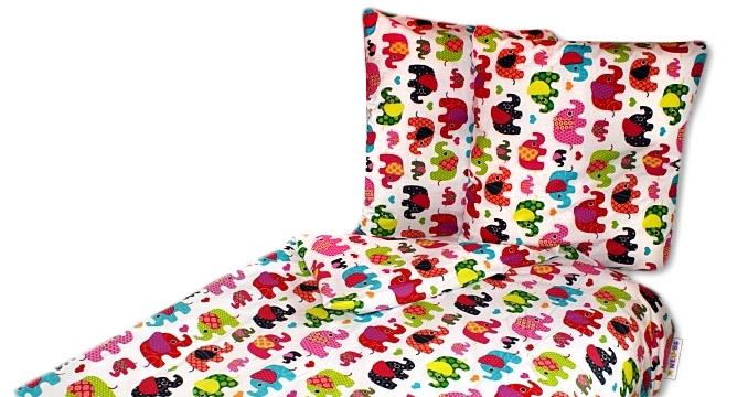 Bavlněné povlečení 140 x 200 - Sloni růžovi - 140x200/70x80cm