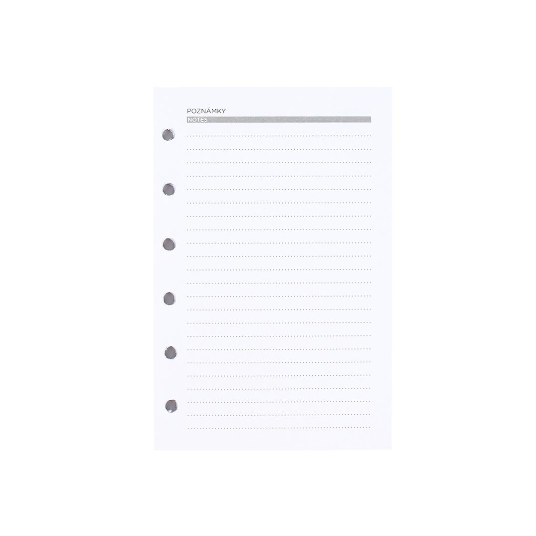 Linkované listy pro manažerský diář A6