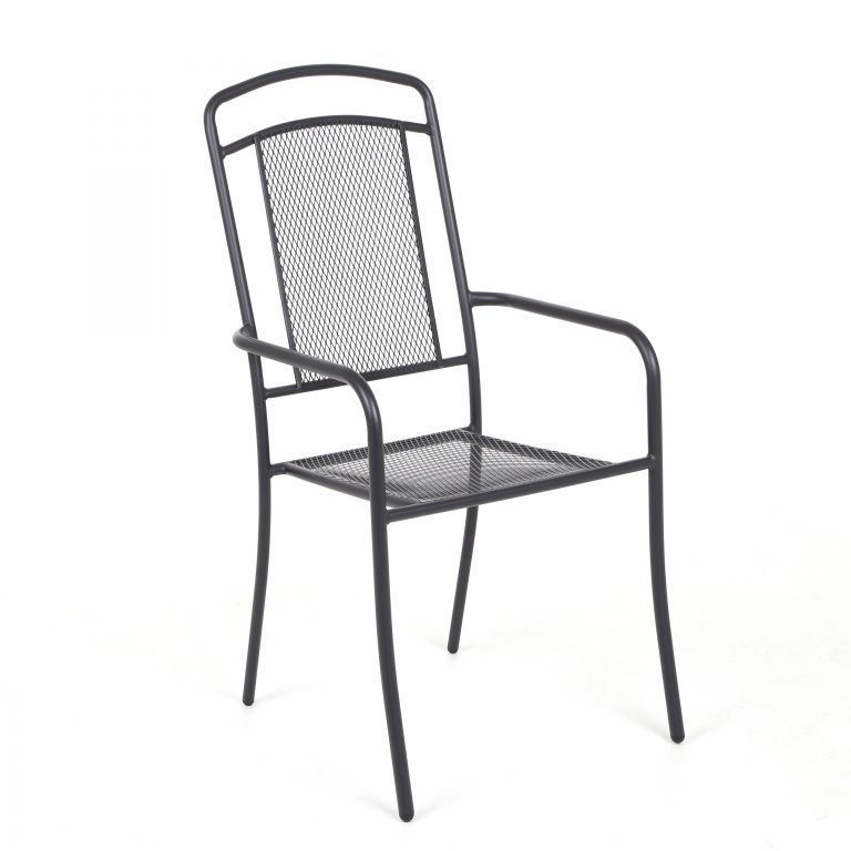 Zahradní kovová židle Venezia - antracit