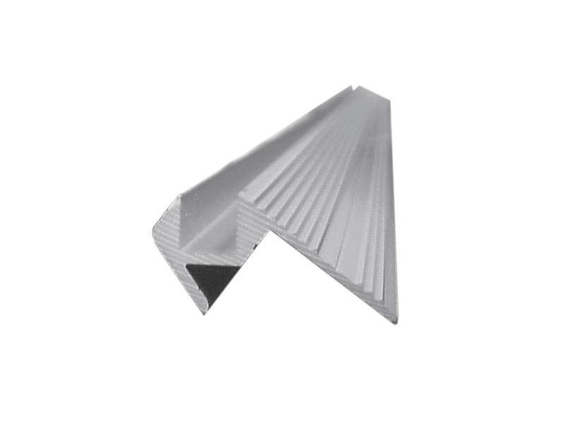 Al profil, 10x10mm, stříbrný, 2m