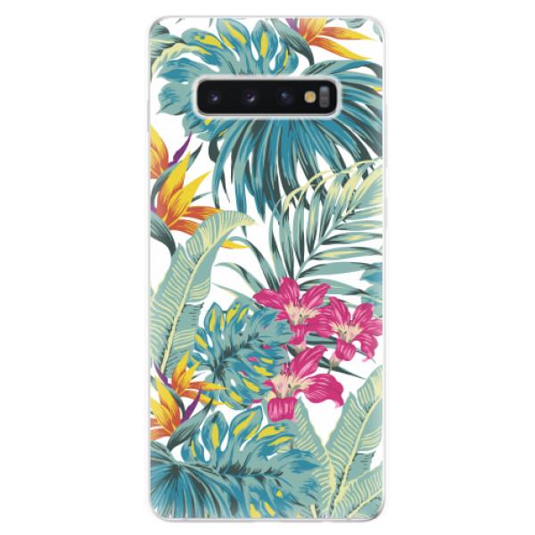 Odolné silikonové pouzdro iSaprio - Tropical White 03 - Samsung Galaxy S10+