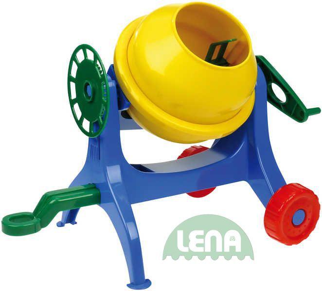 LENA Dětská plastová mechanická míchačka na maltu