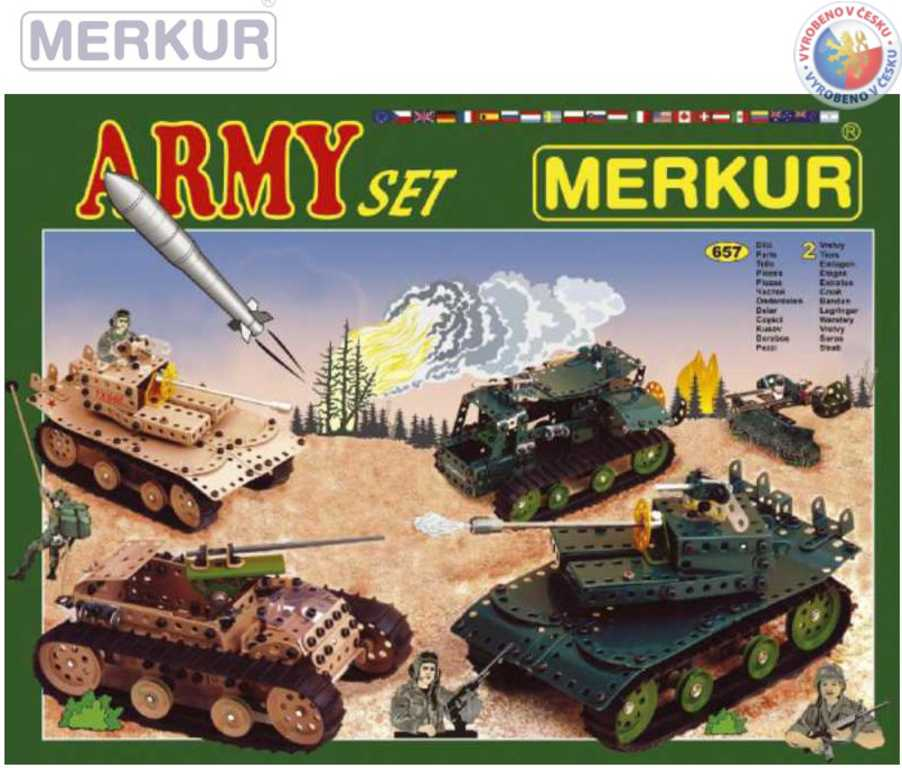 MERKUR 104 Army set * KOVOVÁ STAVEBNICE *