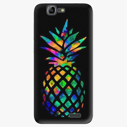 Plastový kryt iSaprio - Rainbow Pineapple - Huawei Ascend G7