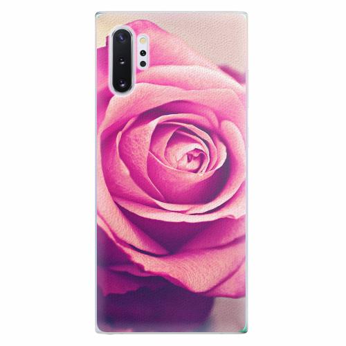 Silikonové pouzdro iSaprio - Pink Rose - Samsung Galaxy Note 10+