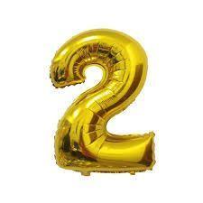 Nafukovací balónky čísla maxi zlaté - 2