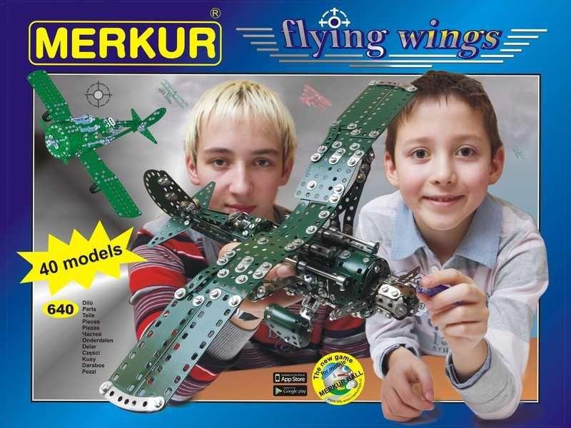 MERKUR Flying wings 40 modelů 640 dílků KOVOVÁ STAVEBNICE