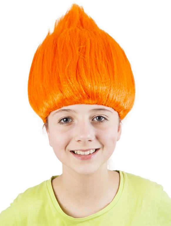 KARNEVAL Paruka skřítek oranžová *KARNEVALOVÝ DOPLNĚK*