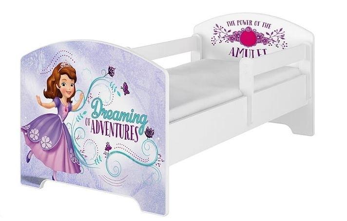 BabyBoo Dětská postel 140 x 70cm Disney - Sofie, bílá - 140x70