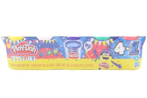 Play-Doh Modelína 4 + 1 třpytivá