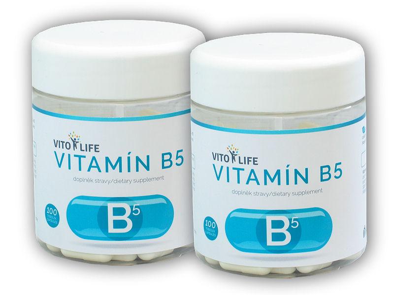 2x Vitamín B5 100 kapslí