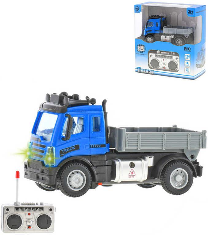 RC Auto nákladní 12cm na vysílačku 27MHz na baterie 1:64 Světlo