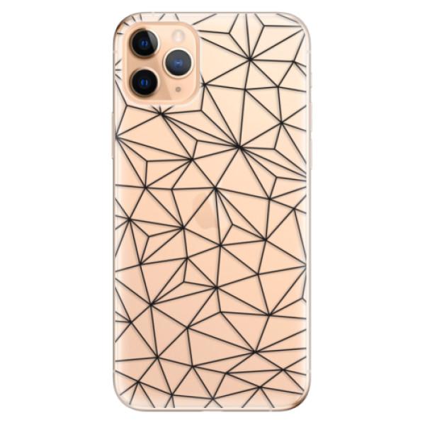 Odolné silikonové pouzdro iSaprio - Abstract Triangles 03 - black - iPhone 11 Pro Max