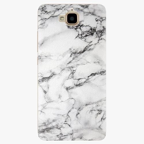 Plastový kryt iSaprio - White Marble 01 - Huawei Y6 Pro
